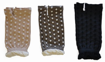 ドット柄がかわいいオーガニックコットン手袋