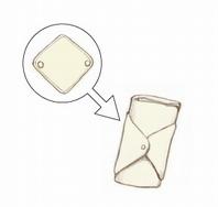 竹布ナプキンを折りたたみます