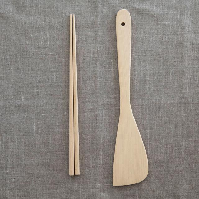 青森ひば菜箸とターナー