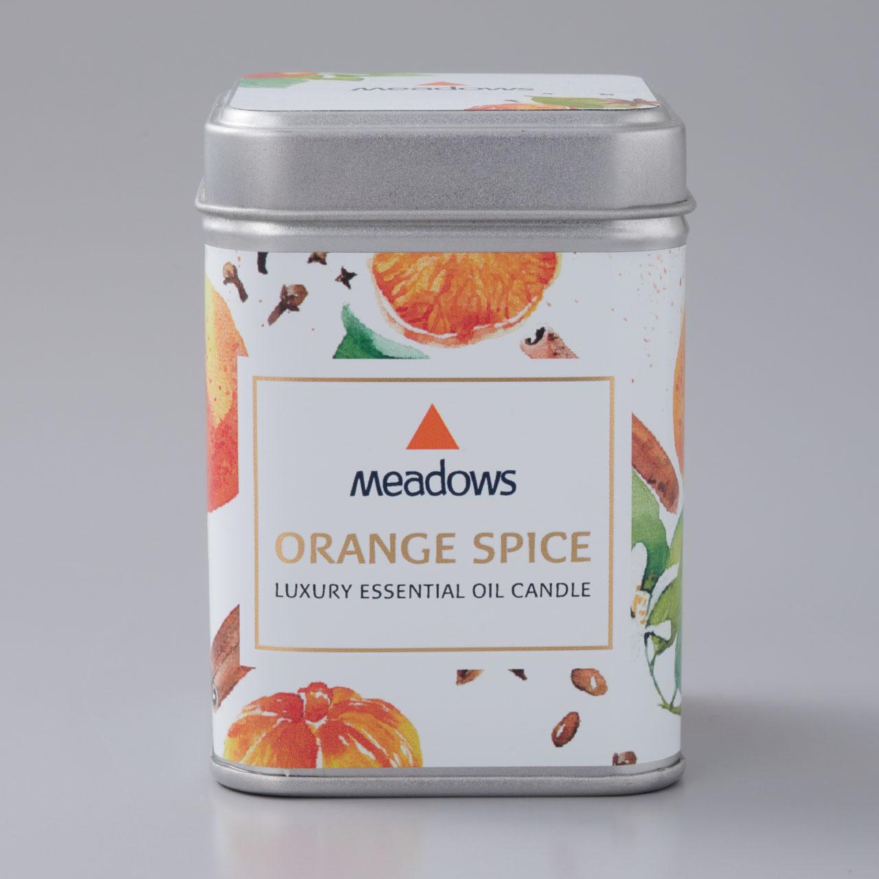 メドウズ(meadows)ラグジュアリー エッセンシャルオイルキャンドル オレンジスパイス