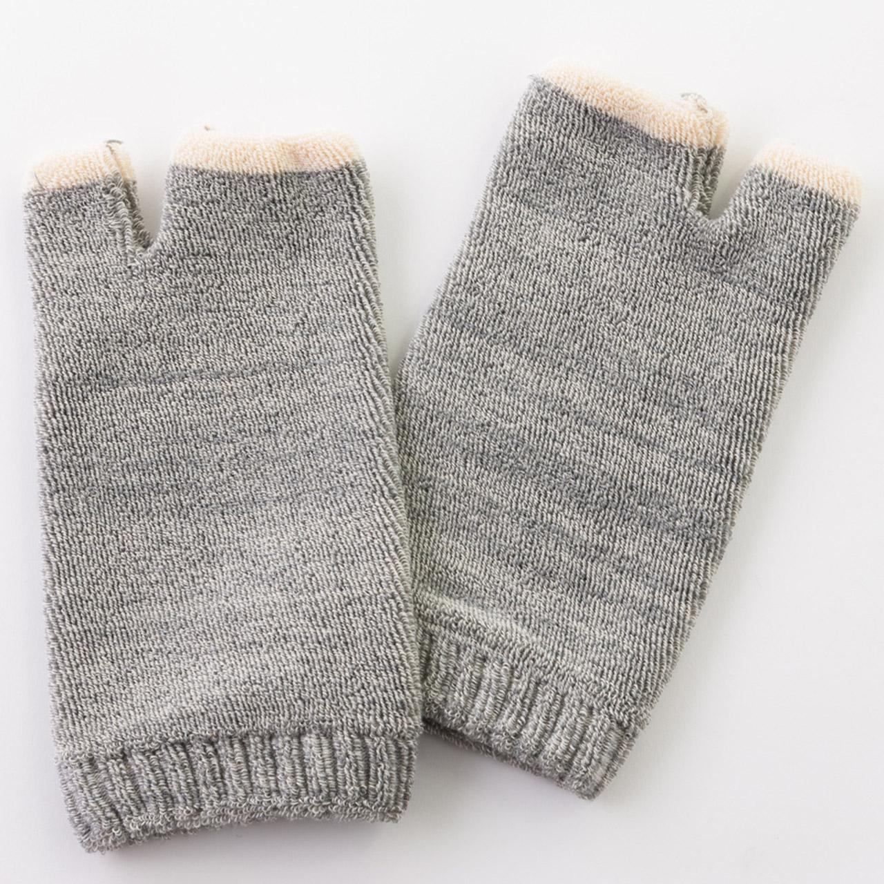 オーガニックコットンパイル手袋杢カラー