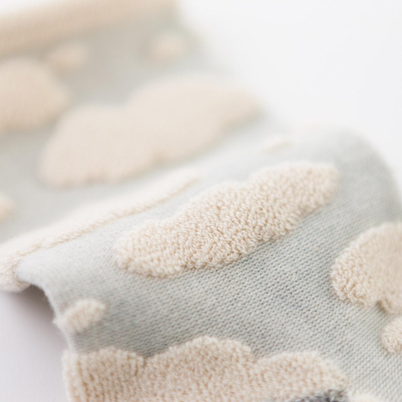 オーガニックコットン綿雲パイルソックス
