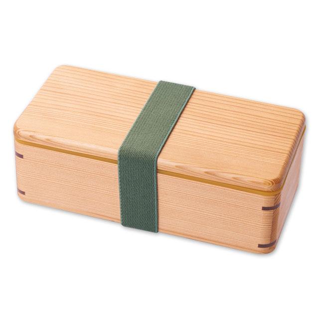 ウッドランチボックス 白 保冷蓋付